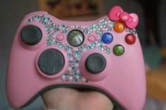 Okay I seriously need to bling out my PS3 controller...this is too cute!