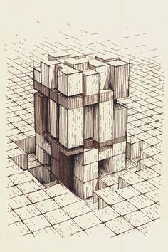 Architecture Sketches, 3d Shapes, Public Spaces, Find Picture, Our World, Geometric Art, Art Sketchbook, Our Life, Offices