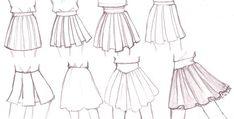 Skirt drawing ideas
