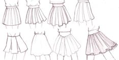 Skirt drawing ideas