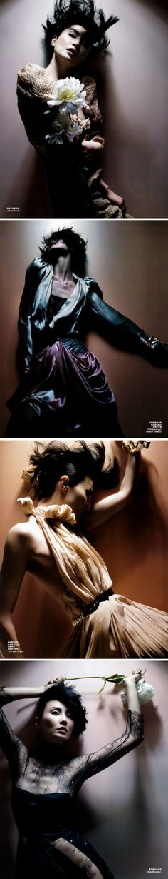 Beautiful HK actress Maggie Cheung, by Nick Knight for Vogue China Sept 2009.