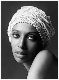 "Donyale Luna, once called ""the reincarnation of Nefertiti"", the first black woman to appear on the cover of Vogue, photo by David Bailey. I'm fascinated by the history behind this portrait."