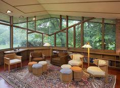 Paul Olfelt house. 1958-60. St. Louis Park, MN. Usonian Style. Frank Lloyd Wright