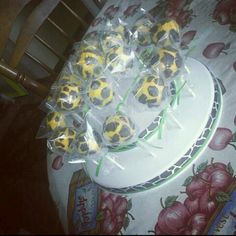 Giraffe Print Cake Pops I made for my sisters baby shower
