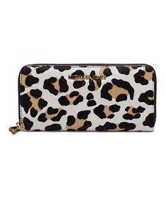 Love this Leopard Leather Jet Set Travel Wallet on #zulily! #zulilyfinds