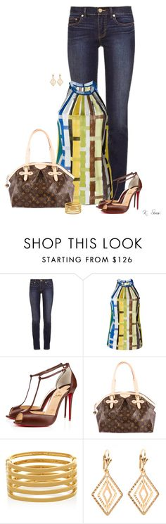 """""""It's the blouse"""" by ksims-1 ❤ liked on Polyvore featuring Tory Burch, Missoni, Christian Louboutin, Louis Vuitton, Kenneth Jay Lane and Peermont"""