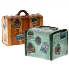 Road Trip Luggage Ceramic Salt and Pepper Shakers