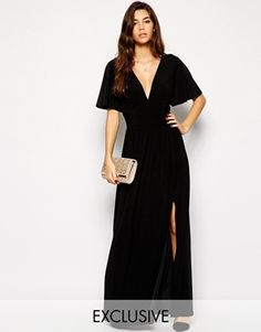 Enlarge Love Kimono Sleeve Maxi Dress