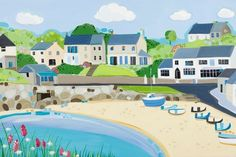 Gorgeous new print from Janet Bell of Moelfre on Anglesey.