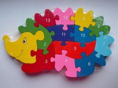 Holzpuzzle Igel mit Zahlen und Buchstaben, Puzzle, Steckspiel in Spielzeug, Holzspielzeug, Motorikspielzeug | eBay