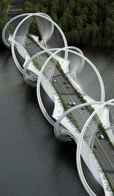 Architecture firm Penda and engineering firm Arup have teamed up to undertake the ambitious goal of redesigning the suspension bridge, with their newly commissioned project to build the San Shan Bridge in China. // Get to know more Architecture Projects > Cultural Architecture, Baroque Architecture, Blog Architecture, Cabinet D Architecture, Futuristic Architecture, Beautiful Architecture, Landscape Architecture, Bridges Architecture, Infrastructure Architecture
