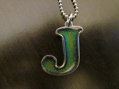 J Letter Mood Necklace by EternalAmbiance on Etsy, $10.00