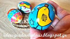 Ιδεες για δασκαλους: Πασχαλινά αυγά με μαρκαδόρους και λαδοπαστέλ Happy Easter, Coasters, Projects To Try, Holidays, Nice, Rocks, Manualidades, Happy Easter Day, Holidays Events