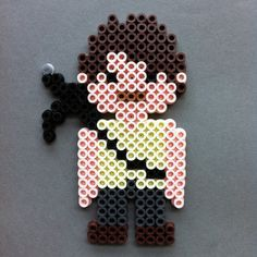 Daryl Dixon The Walking Dead Perler Bead Character Magnet by HarmonArt
