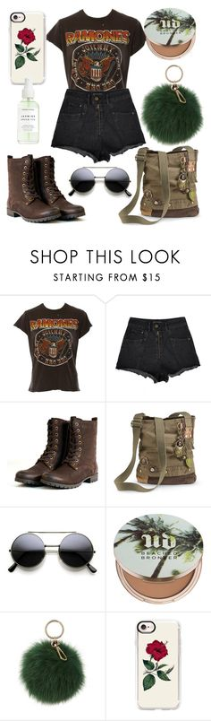 """""""Army brat 🐍"""" by julietpenrose ❤ liked on Polyvore featuring MadeWorn, Urban Decay, Coccinelle and Casetify"""