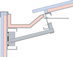 Concealed Eaves Gutter - Detail within span