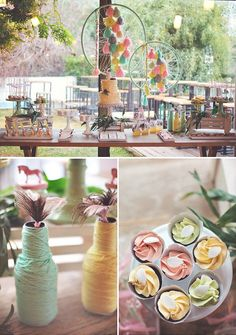 Gorgeous Boho Chic Birthday Party {Pastels & Feathers}