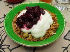 Housemade granola with yogurt and berry compote at The Pepper Pot in Dublin, Ireland