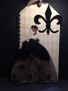 Canvas, Tule and Fleur De Lis... Three of my favorites!! Anne Gillis