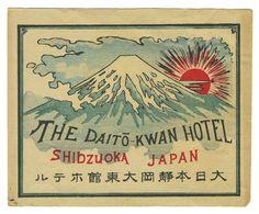 Artist Unknown poster: The Daito-Kwan Hotel - Shizuoka, Japan (Luggage Label) | Shop original vintage #posters online: www.internationalposter.com