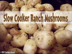 Need a simple vegetable side dish to serve during the holidays or at a dinner party? These tasty slow cooker ranch mushrooms are melt-in-your-mouth delicious and they are super easy to prepare too! #christmas #thanksgiving #vegetarian