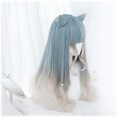 Kawaii Hairstyles, Pretty Hairstyles, Wig Hairstyles, Hair Dye Colors, Cool Hair Color, Anime Hair Color, Kawaii Wigs, Style Pastel, Lolita Hair