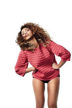 Beyoncé - May 2013 Love the colour of jumper and hair. But don't let them fool you - there is no way her thighs are that skinny in real life!! (There will be no photoshop in paradies.)