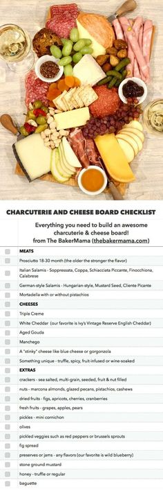 The BEST Charcuterie and Cheese Board Checklist - Brunch - entertaining Plateau Charcuterie, Charcuterie And Cheese Board, Charcuterie Platter, Antipasto Platter, Cheese Boards, Food Platters, Cheese Platters, Appetizers For Party, Charcuterie Board