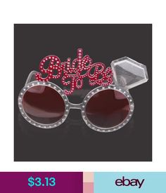 b11d2a7b02d New Bachelorette Hen Party Supplies Bride To Be Glasses Pink Bling Diamond  Ring for Wedding Party Decoration Night Party Favors