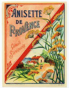 Anisette de Provence liqueur label