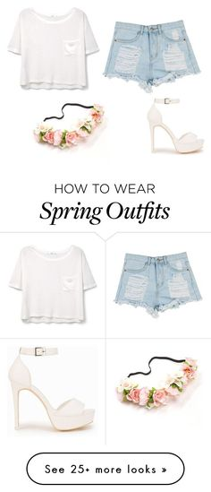 """Cute cheap spring outfit"" by onlinegamergirl on Polyvore featuring MANGO and…"