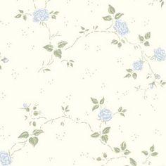 Tapet Desirée Blå Beställningsvara i butik- köp direkt på webben!En vit tapet med vackra blommor.Teknisk information Papperstapet Rullängd: 10,05 m Bredd: