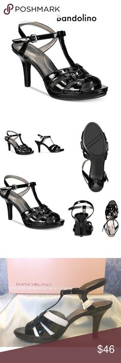 """NEW IN BOX. Bandolino Platform Dress Sandals Bandolino Sarahi Platform Dress Sandals with 3"""" wrapped heel, 1/2"""" platform. So it feels like a 2 1/2"""" heel.  A round toe with an adjustable buckle closure at the ankle strap. A padded insole & flexible construction for added support. Size 9M Bandolino Shoes Heels"""