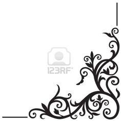Arabic floral pattern. Element for design corner. Stock Photo - 13882540
