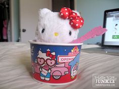 Sanrio x Yogurtland Hello Kitty cup and spoon