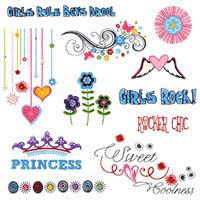 About a Girl Embroidery Designs