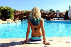 blue ombre hair | Tumblr