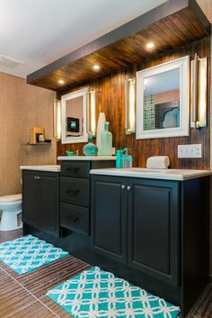 As seen on DIY Network's, I Hate My Bath, the finished bathroom in the Morris home is the perfect main street classic style with a natural feel, warm colors and natural elements. After #3 (After)