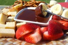 Godiva Chocolate Fondue from Food.com:   								ZWT7 Switzerland. Where did chocolate fondue originate? Answer: http://www.europeancuisines.com/Switzerland-Swiss-Chocolate-Fondue-History-And-Basic-Recipe. Recipe from http://www.godiva.com.