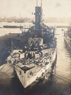 Antique Photograph of USS Maine B-10 Charlestown Mass Navy Yard Early 1900s