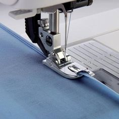 Sew a Narrow Hem In One Step. With the Pfaff Narrow Rolled Hem Foot,you can easily stitch rolled hems on blouses, silk scarves or ruffles without pressing the hem first. The rolled hem prevents the fabric edge from fraying and results in a neat, durable Sewing Tools, Sewing Hacks, Sewing Tutorials, Sewing Projects, Sewing Patterns, Sewing Crafts, Stitch Patterns, Techniques Couture, Sewing Techniques