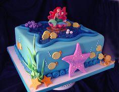 ariel birthday cake | Little Mermaid Birthday Cakes Little Mermaid Birthday Cakes ...