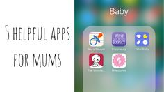 Helpful apps for new moms! Tried and tested by a new mom.