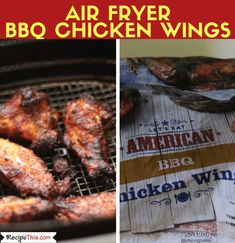 Air Fryer Chicken Wings From Frozen Ways). Here are 3 versions of cooking frozen chicken wings in the air fryer. All your favourite flavours included. Easy Appetizer Recipes, Healthy Dessert Recipes, Clean Eating Recipes, Whole Food Recipes, Party Recipes, Appetizers, Desserts, Frozen Chicken Wings, Air Fryer Chicken Wings