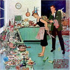 Si no quieren terminar el Año Nuevo como esta pobre señora, les ofrecemos un montón de ideas para llenar la mesa de cosas frías. www.elementigourmet.com.ar