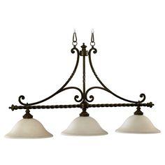 Quorum Lighting Alameda Oiled Bronze Island Light | 6586-3-86 | Destination Lighting