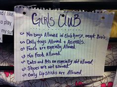 Girls club rules