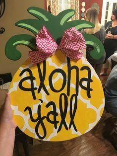 Pineapple door hanger!