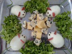 Ratinhos - Ovos e queijos - orelhas de rabanete