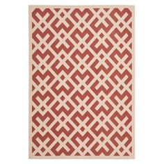 Safavieh Courtyard Red / Bone Outdoor Rug & Reviews | Wayfair